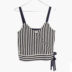 Madewell Finale Tank Top in Stripe, Size Small NWT